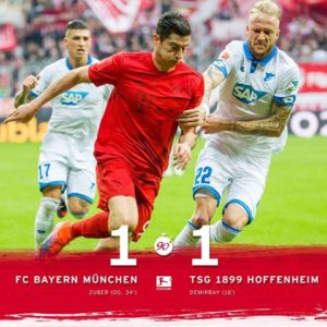 FC Bayern München 1 x 1 1899 TSG Hoffenheim